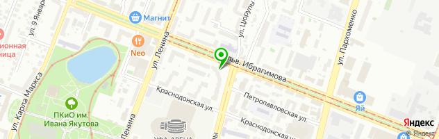 Клиника лечения волос АМД Лаборатории Уфа — схема проезда на карте