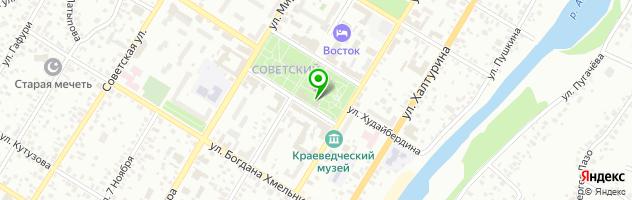 Суши-бар Сатори — схема проезда на карте