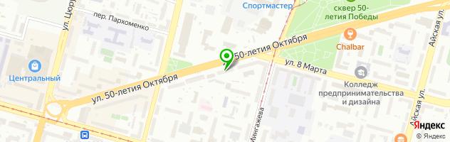 """Глазная клиника для детей и взрослых """"Риа-Медоптик"""" — схема проезда на карте"""