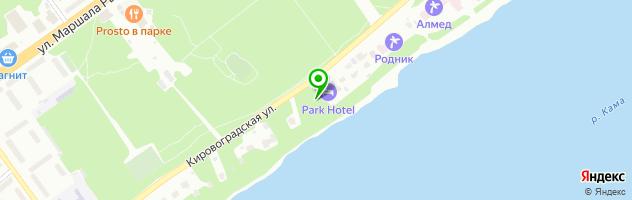 Ресторан Park-Hotel — схема проезда на карте