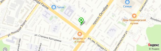 """Медицинская клиника """"Здоровье+"""" — схема проезда на карте"""