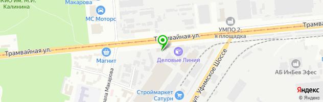 Шашлычная ОАО Башмебель. — схема проезда на карте