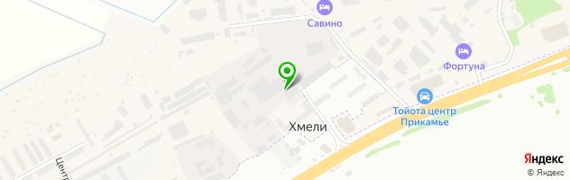 Кафе Хозяюшка — схема проезда на карте