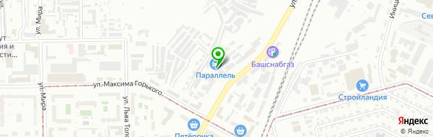 Автосервисный комплекс Параллель — схема проезда на карте