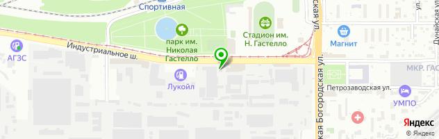 Автосила — схема проезда на карте