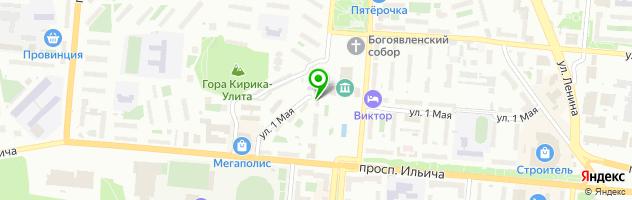 Полиграфическая фирма Зебра — схема проезда на карте