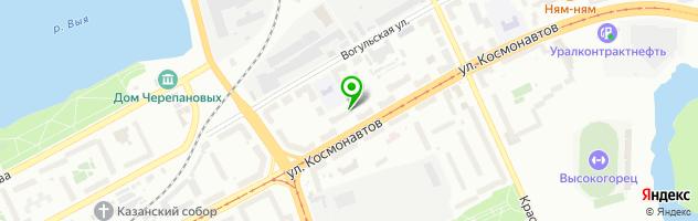 Салон часов Яна — схема проезда на карте