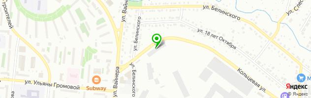 Установочный центр SPARK — схема проезда на карте