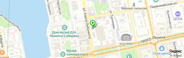 Кафе-бар Bukowski — схема проезда на карте