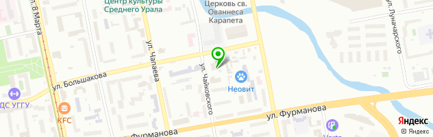 Клиника Магнолия — схема проезда на карте