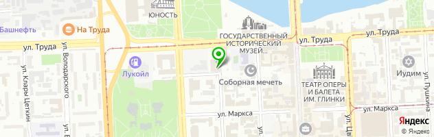 Ресторан Гжель — схема проезда на карте