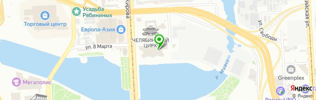 Ребрышковая — схема проезда на карте