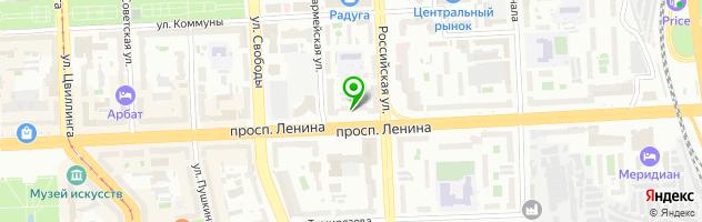 Кафе-бар Слон — схема проезда на карте
