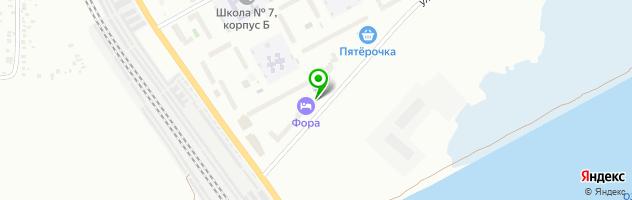 Гостинично-развлекательный клуб Фора — схема проезда на карте