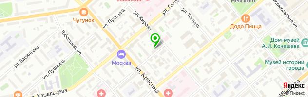 Центр печати и фотоуслуг Радуга — схема проезда на карте