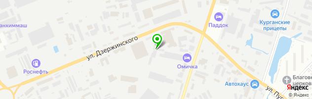 Торгово-сервисная фирма СпецМаш-Курган — схема проезда на карте