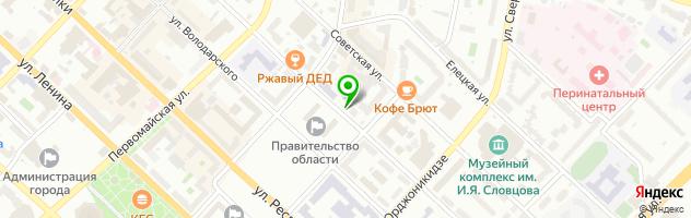 """Ресторан """"Потаскуй"""" — схема проезда на карте"""
