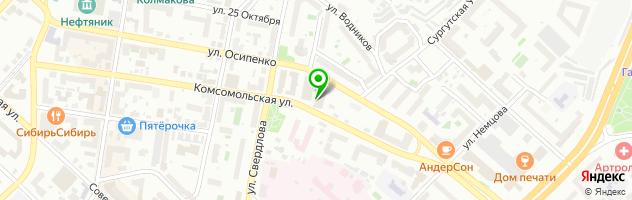 Ресторан СЛИFFКИ — схема проезда на карте