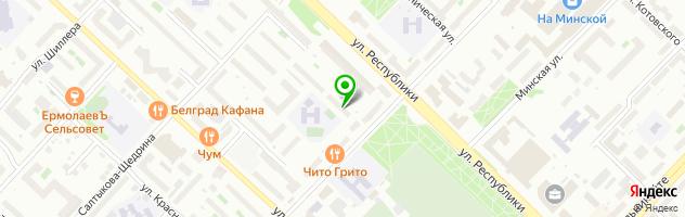 Сервисный центр КАНИФОЛЬ — схема проезда на карте