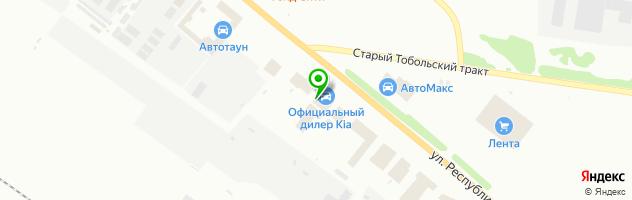 Автоцентр Kia — схема проезда на карте