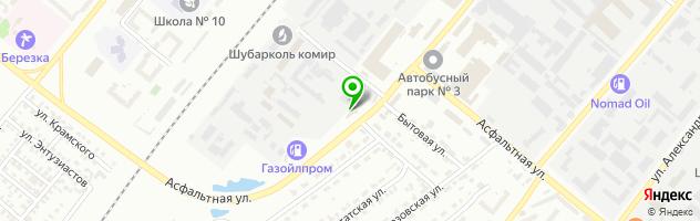 Эйкос ТОО — схема проезда на карте