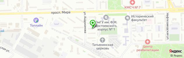 Первая социальная стоматологическая клиника — схема проезда на карте