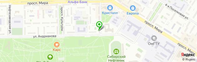 Медицинская клиника Авиценна — схема проезда на карте