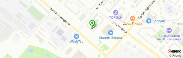 Автомаркет Апекс — схема проезда на карте