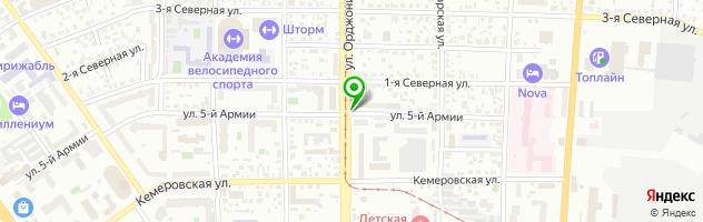 Шинный-центр Банзай — схема проезда на карте