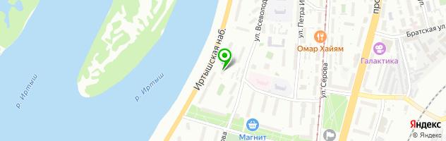 Врачебно-косметологическая лечебница АУЗ Омской области — схема проезда на карте