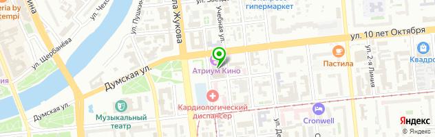 Трактир Ёлки-Палки — схема проезда на карте