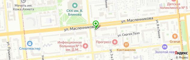 Студия косметологии и массажа на Масленникова — схема проезда на карте