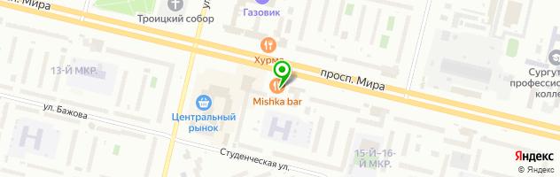 Ресторан MISHKA BAR — схема проезда на карте