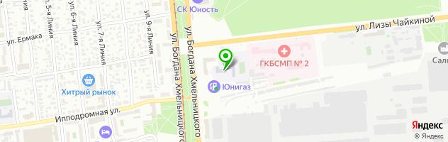 Омский музыкально-педагогический колледж — схема проезда на карте