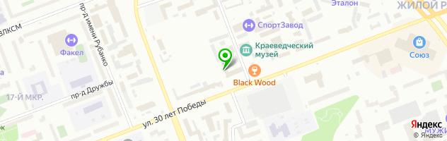 Клининговая компания Сити-Сервис-Сургут — схема проезда на карте