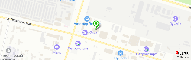 Автопрокат Doublephaeton — схема проезда на карте