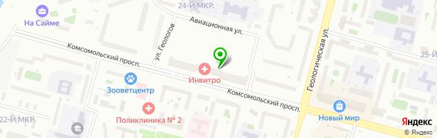 Лечебно-диагностический центр Наджа — схема проезда на карте