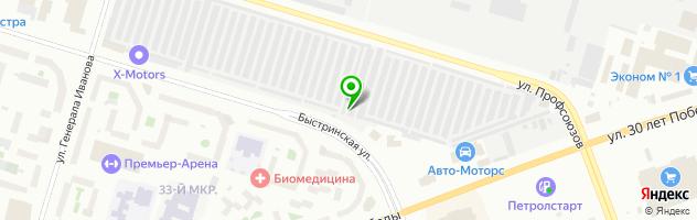 Кузовная мастерская АвтоБлик — схема проезда на карте
