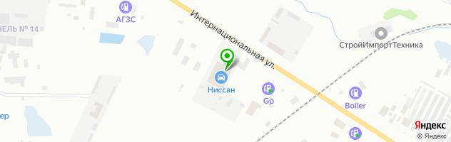 Автоцентр Ниссан — схема проезда на карте