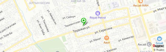 Болашак детский сад — схема проезда на карте
