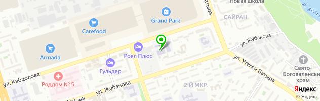 Алматинский колледж сервисного обслуживания — схема проезда на карте