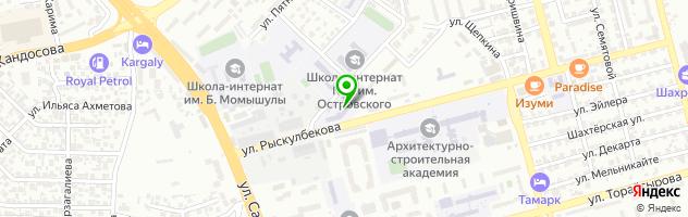 Алматинский финансово-экономический колледж (АФЭК) — схема проезда на карте
