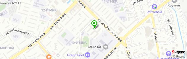 Экономический колледж университета Нархоз — схема проезда на карте