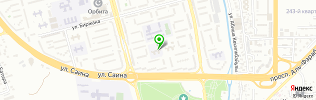 Алматинский колледж менеджмента и сервиса АКМиС — схема проезда на карте