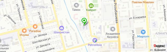 Колледж Казахская национальная академия искусств им. Т.К. Жургенова — схема проезда на карте