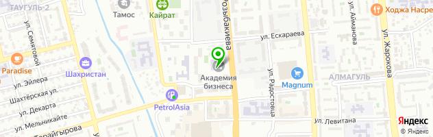 Колледж Международной Академии Бизнеса — схема проезда на карте