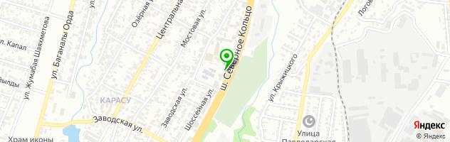 Шиномонтажная мастерская на Шоссейной 90а/1 — схема проезда на карте