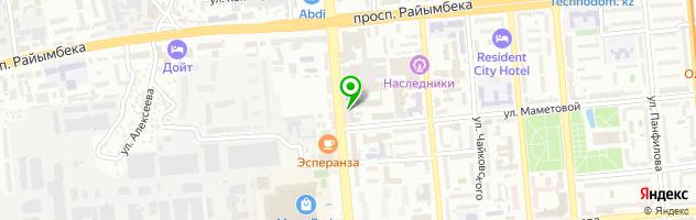 Алматинский финансово-правовой и технологический колледж — схема проезда на карте