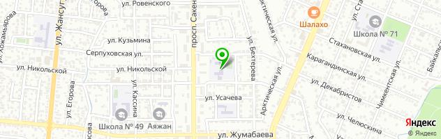 Гимназия имени М.Турлыхановой — схема проезда на карте