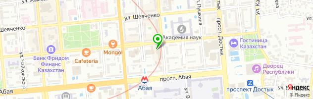Спортивно-оздоровительный комплекс The Dostyk Hotel — схема проезда на карте
